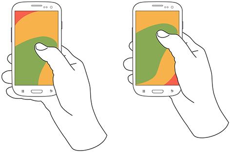 触屏手机矢量图