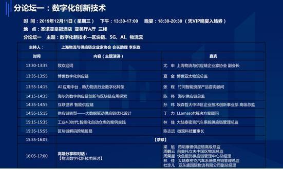 2019上海第六届现代物流与供应链高峰论坛最新活动议程来袭
